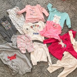 Lot of baby girl 6 month clothes